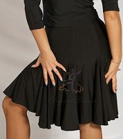 Black Latin A-line Skirt