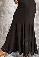 Black Ballroom Skirt/Satin Trim