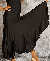 Black Ballroom Skirt/Uneven Edge