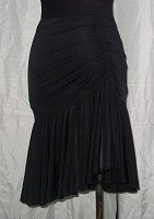 Black Latin Skirt/Gathered
