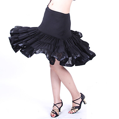 Black Latin/Layered Ruffles