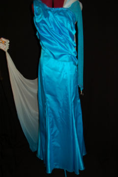 Turquoise and White Ballroom Dress