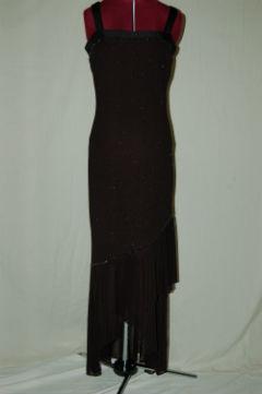 Black Latin with Sheer Skirt