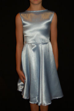 Light Blue Satin Pre-teen Dress