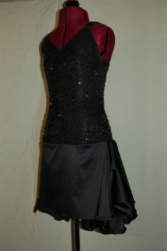 Black Lace with Ruffles on Back