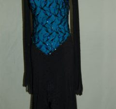 Black Latin - Blue Bodice