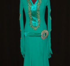 Green/Satin Latin Dress
