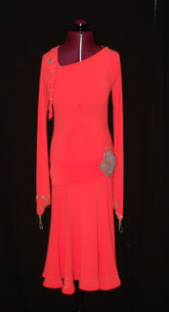 Orange Latin Dress/Long