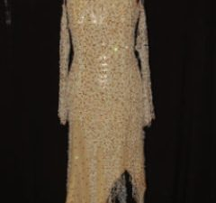 Gold Mesh Latin Dress