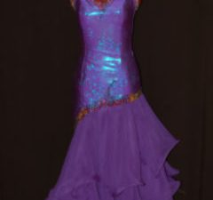 Purple/Volcano Stoned Ballroom Dress