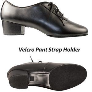 Black Leather Latin Shoe