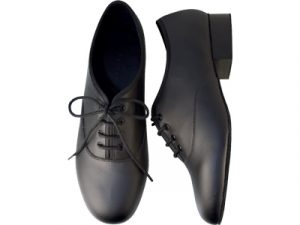 Black Leather Ballroom Shoe