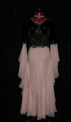 Black and Pink Ballroom Dress